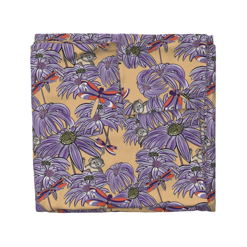Wyandotte Duvet Cover featuring Dragonfllies are Beautiful 2 purple and yellow by debra_may_himes,_asid