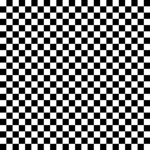Black and White Checkerboard 3/4 inch-Check