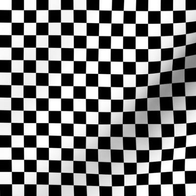 Black And White Checkerboard 1 2 Inch