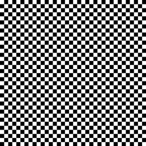 Black and White Checkerboard 1/2 inch-Check