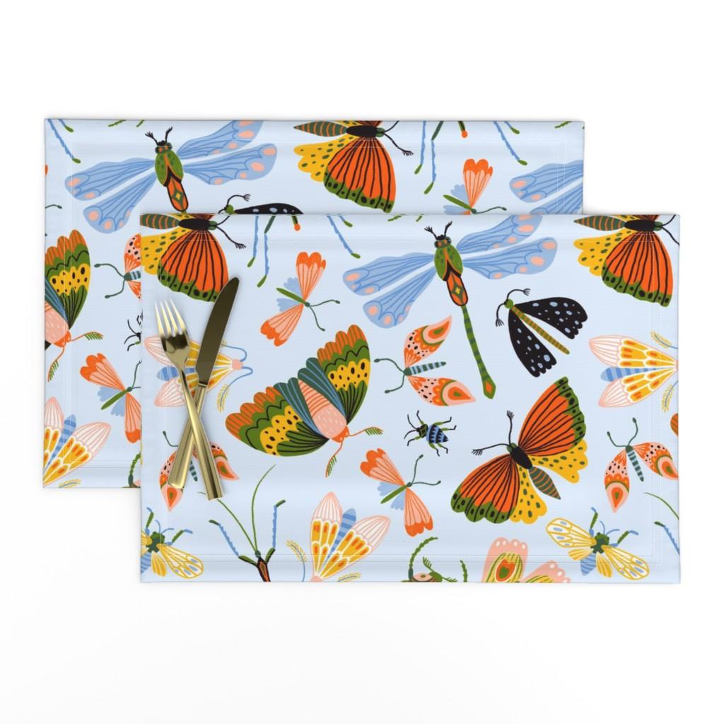 Lamona Cloth Placemats featuring Funny midges by alenkakarabanova