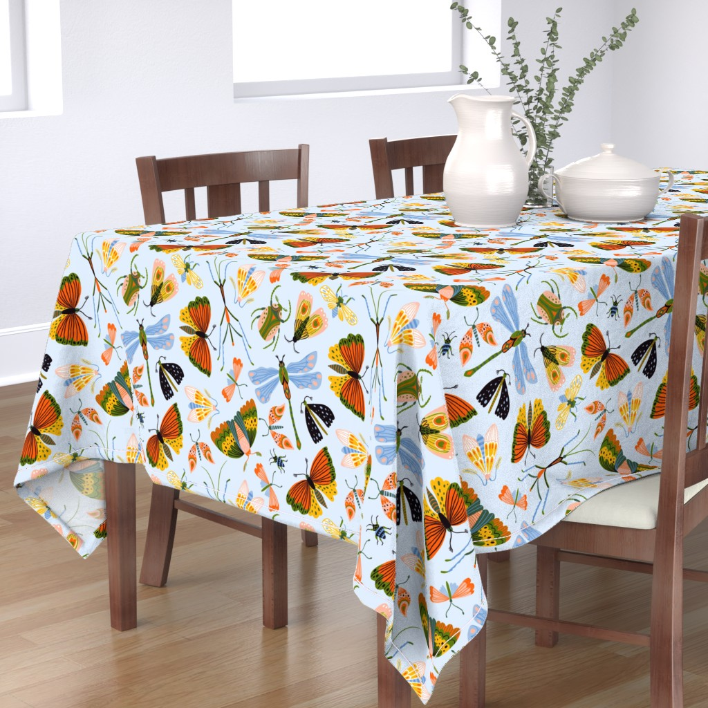 Bantam Rectangular Tablecloth featuring Funny midges by alenkakarabanova