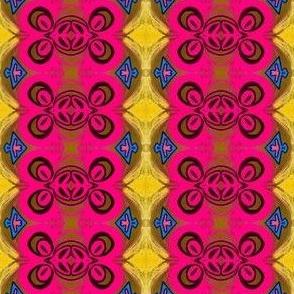 pink emblems_ blue triangles