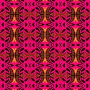 pink ornate repeating flower borders
