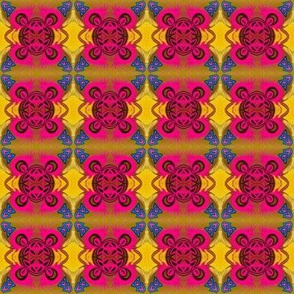 Pink Ornate Repeating Emblem