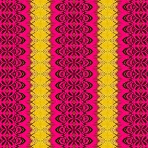 pink repeat pattern_ yellow borders