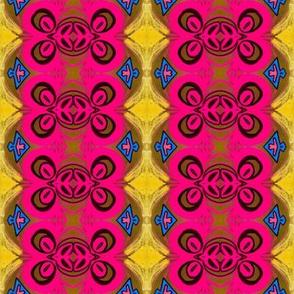 pink ornate emblem