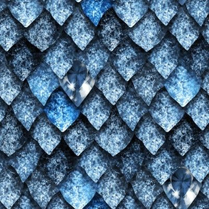 Dragon scales with gems
