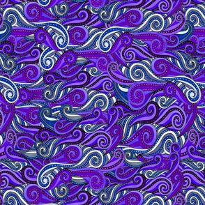 striped swirls--purples