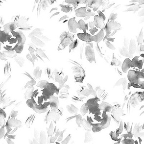 Silver peonies • watercolor florals