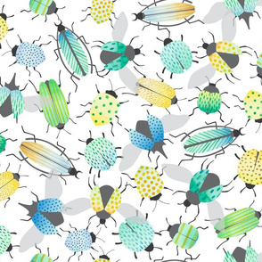 watercolor beetles