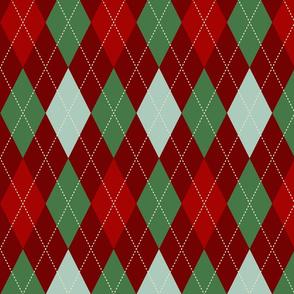 Antique Christmas Argyle