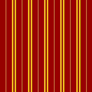 Tie Stripes Golden Yellow On Cherry Red 1:1