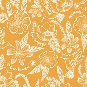 Upbeat Spring, Save the bees, Hummingbirds, Yellow Mustard Botanical Flora