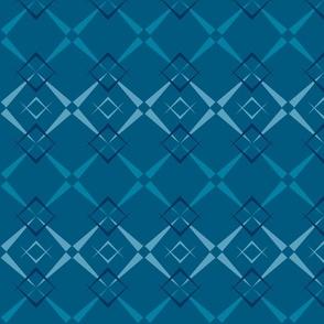 mid century argyle - blue
