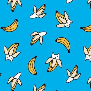 Funny yummy banana cats. Fruit kitties.