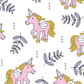 Sweet Unicorn lush summer jungle cute kawaii horses fantasy design pink lilac