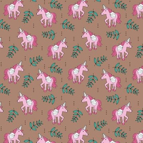 Sweet Unicorn lush summer jungle cute kawaii horses fantasy design pink blue SMALL