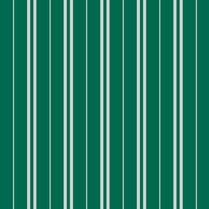 Tie Stripes Light Grey On Bottle Green 1:1