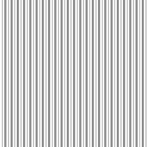 Tie Stripes Black On White 1:4