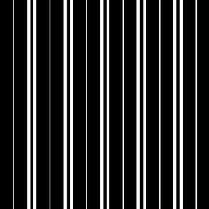 Tie Stripes White On Black 1:1