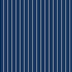 Tie Stripes Light Grey On Navy Blue 1:3