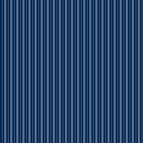 Tie Stripes Light Grey On Navy Blue 1:4