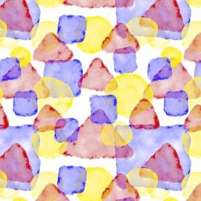 Watercolor Shapes 1:1