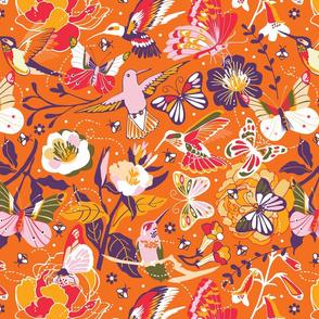 Garden pollinators   orange