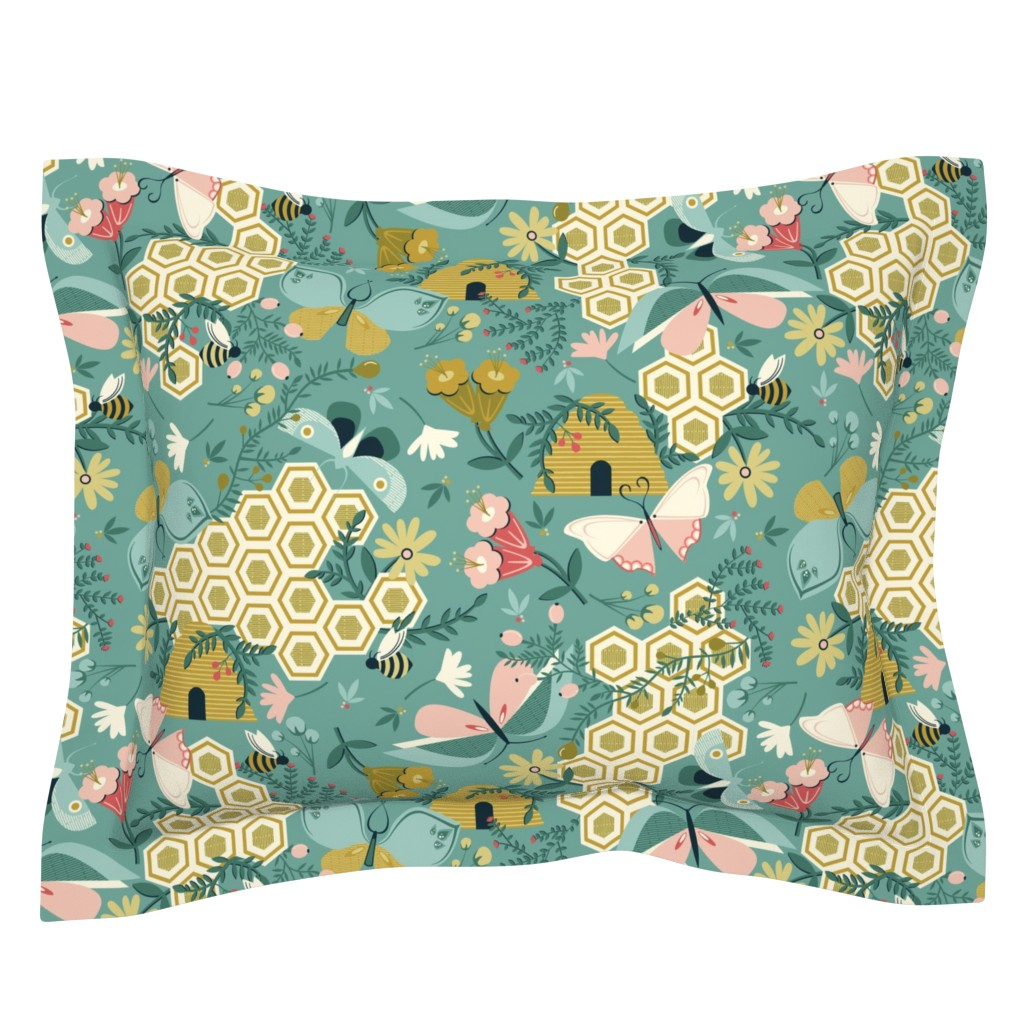 Sebright Pillow Sham featuring Flutter Buddies by oliveandruby
