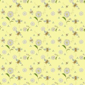 Honeybees on yellow