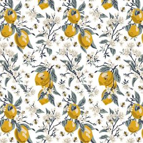 Bees & Lemons - Small - White