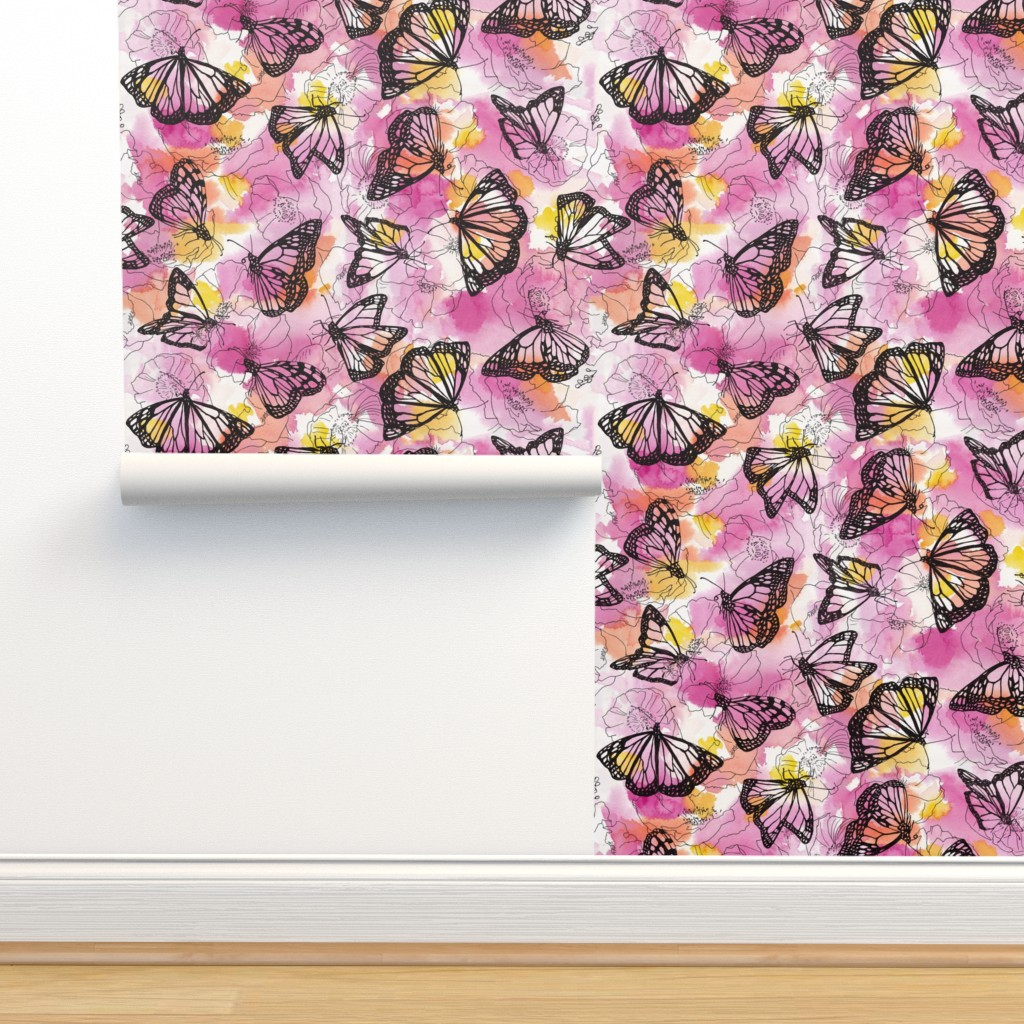 Isobar Durable Wallpaper featuring monarch migration by ghouk