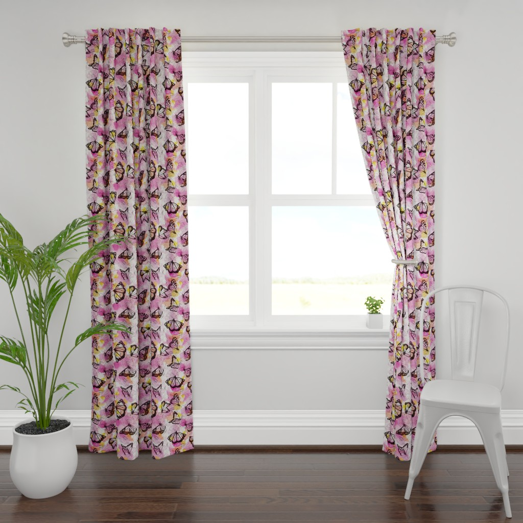 Plymouth Curtain Panel featuring monarch migration by ghouk