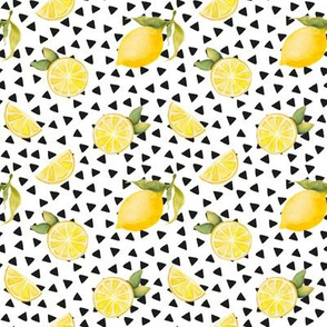 watercolor lemons with black triangles (small)