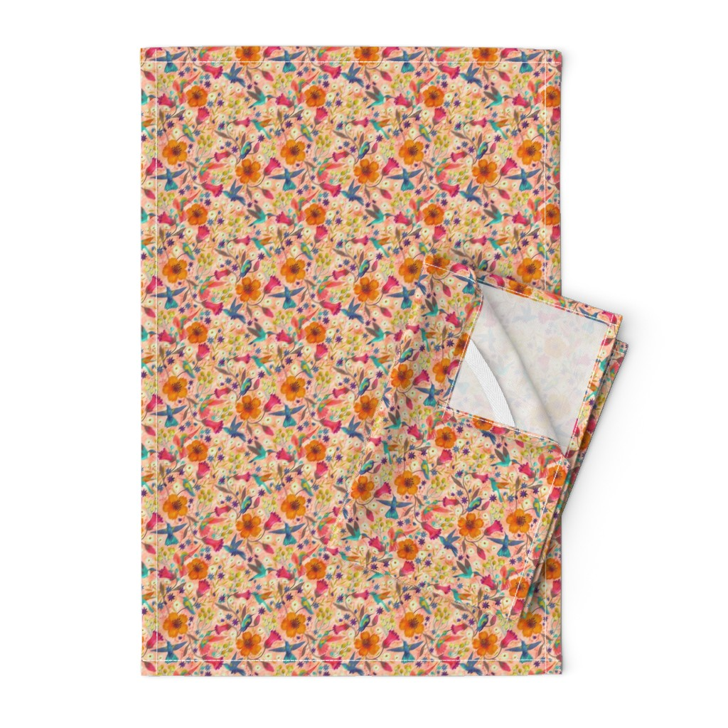 Orpington Tea Towels featuring hummingbirds by gaiamarfurt