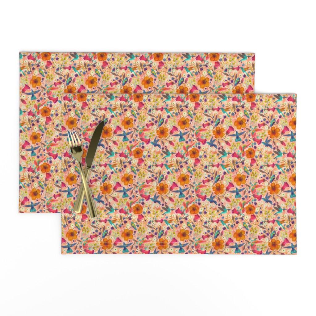 Lamona Cloth Placemats featuring hummingbirds by gaiamarfurt