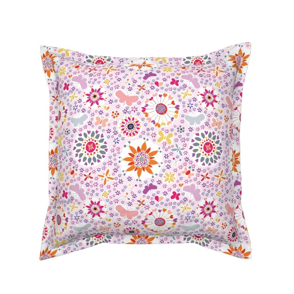 Serama Throw Pillow featuring summer in jaipur by colorofmagic