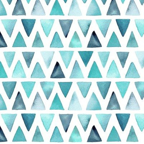 Watercolor Triangle Rows