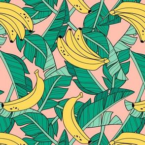 bananas and leaves - blush