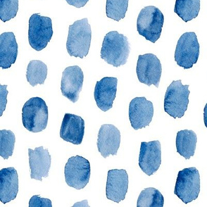 Abstract Watercolor Brush Strokes in Blue