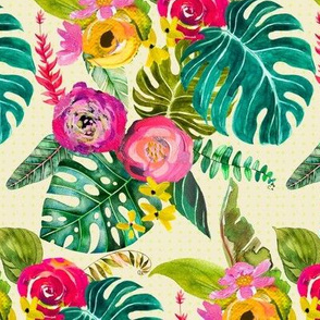 Boho Tropical Floral ((Small Size))