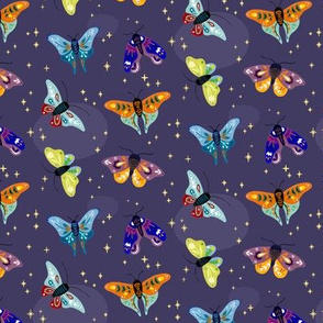 Folk moths - dark