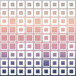 Mosaic Cubes on soft pastel color