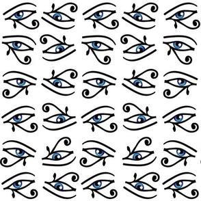 Eye of Horus in black and blue
