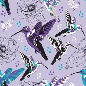 Hummingbirds & Flowers