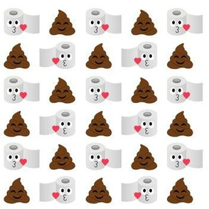 Pile of poop and toilet paper romance