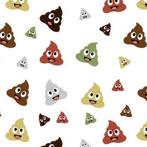 Poops of different color and diversity smiling cute poop happy poop emoji