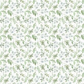 Small Scale Eucalyptus Greenery Pattern