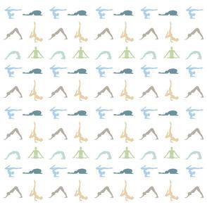 Yoga poses or asanas silhouette